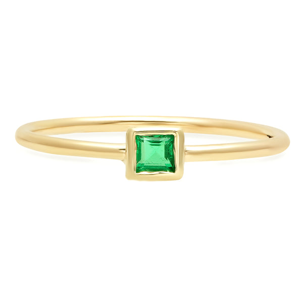 Square Cut Emerald Ring - Rosedale Jewelry