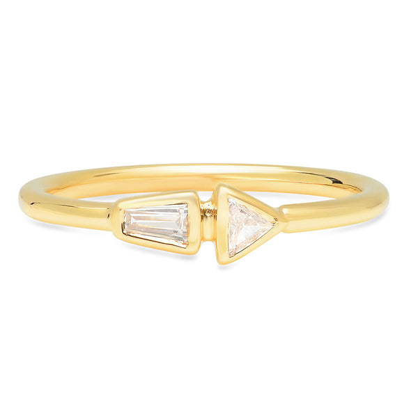 Offset Diamond Band - Rosedale Jewelry