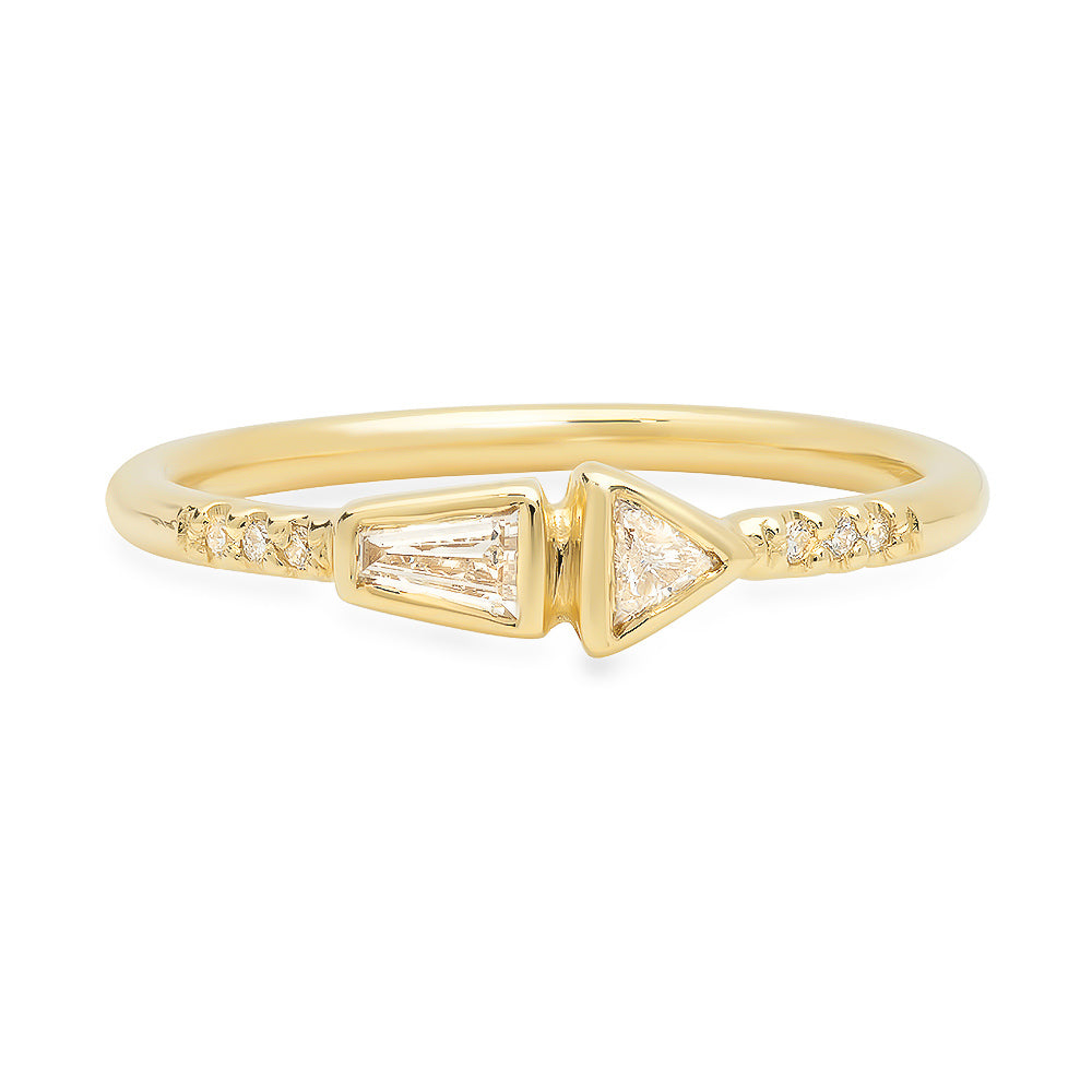 Offset II Diamond Band - Rosedale Jewelry