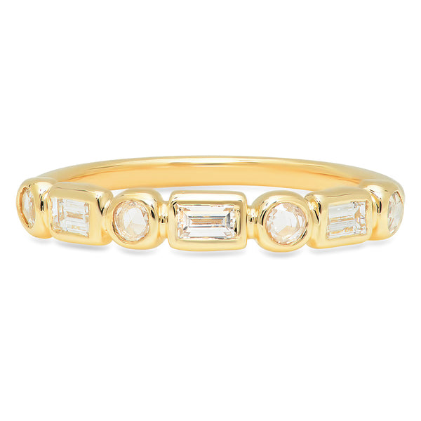 Alternating Diamond Band - Rosedale Jewelry