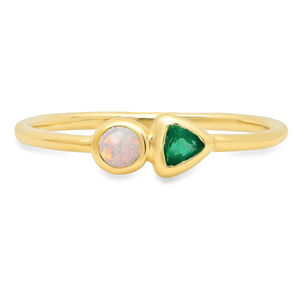 Harlow Opal & Emerald Ring - Rosedale Jewelry