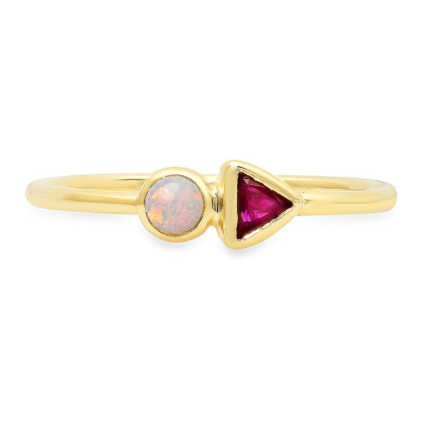 Harlow Opal & Ruby Ring - Rosedale Jewelry