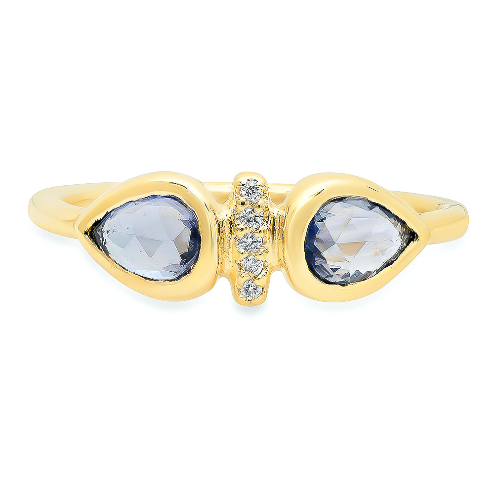 Dahlia Blue Sapphire Ring - Rosedale Jewelry