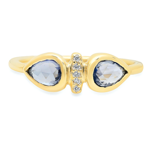 Dahlia Blue Sapphire Ring - rosedale-jewelry