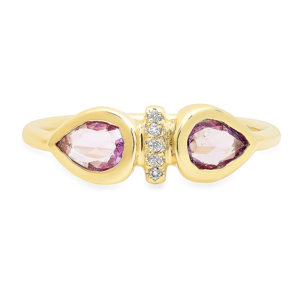 Dahlia Pink Sapphire Ring - Rosedale Jewelry