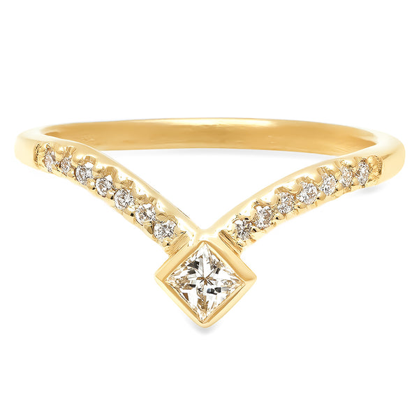 Meridian Diamond V Band - Rosedale Jewelry