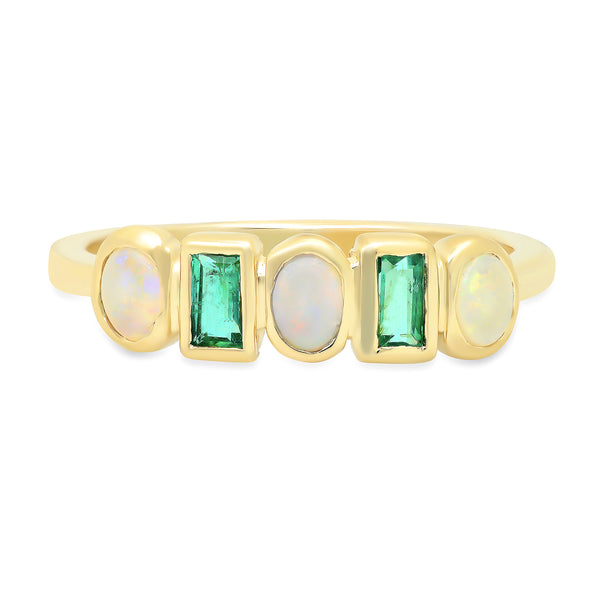 Rhythm Opal and Emerald Band - rosedale-jewelry