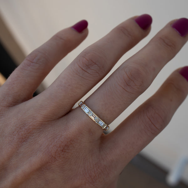 Harmony Baguette Diamond Band - Rosedale Jewelry