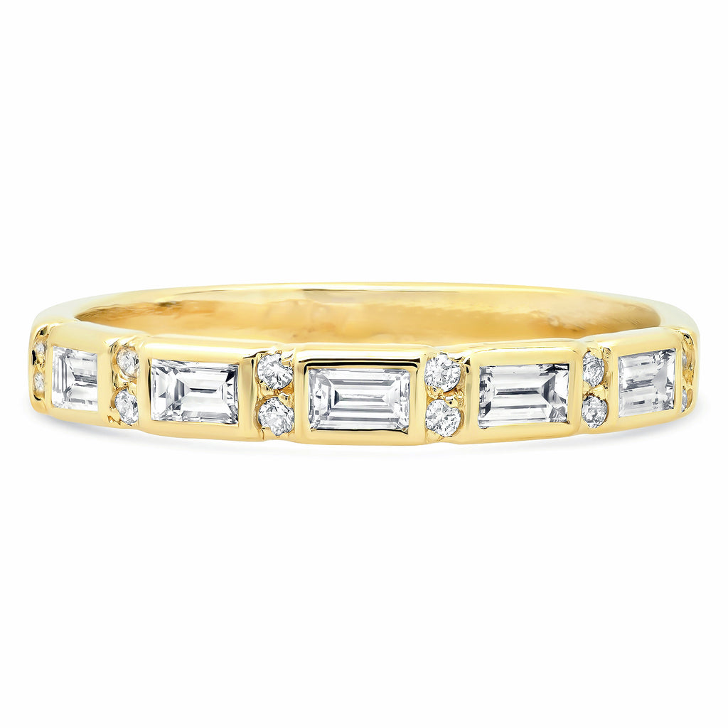 Harmony Baguette Diamond Band - rosedale-jewelry