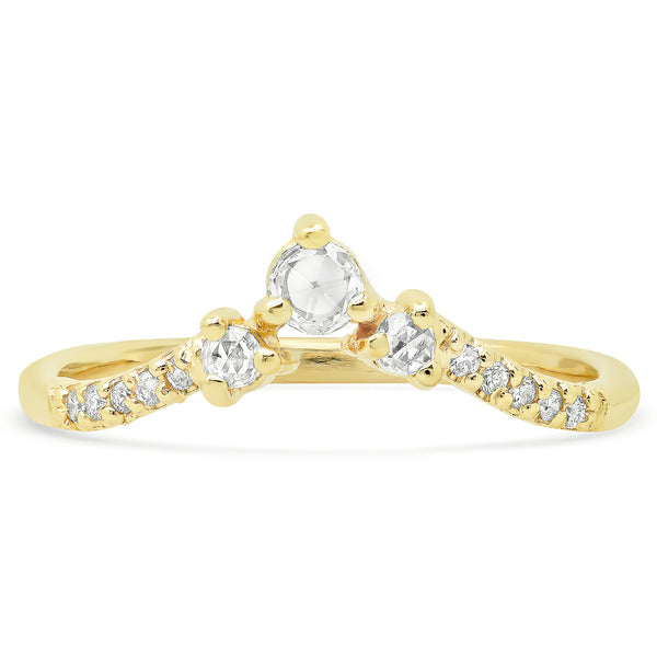 Triad Diamond V Band - rosedale-jewelry