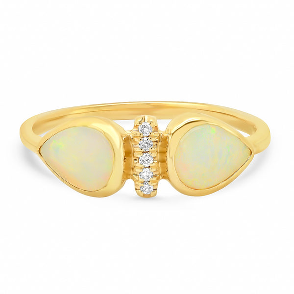 Opal Dahlia Ring - Rosedale Jewelry
