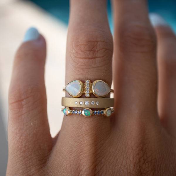 Opal Dahlia Ring - rosedale-jewelry