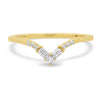 Infinity Diamond V Band - Rosedale Jewelry