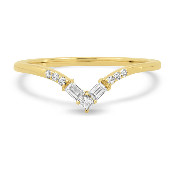 Infinity Diamond V Band - rosedale-jewelry