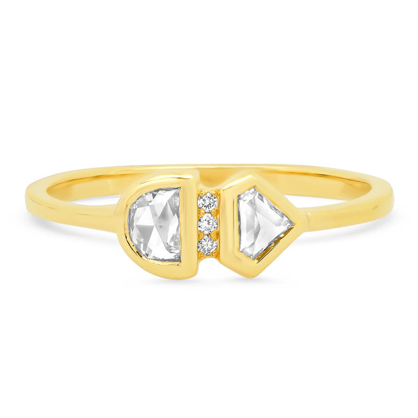 Geometric Diamond Doublet Ring - Rosedale Jewelry