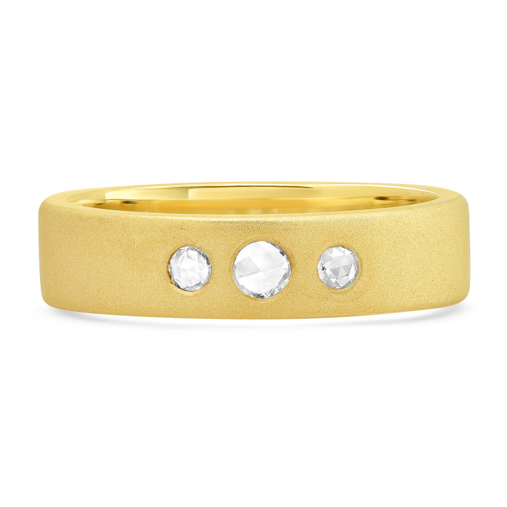 Large Surface Diamond Band - Rosedale Jewelry