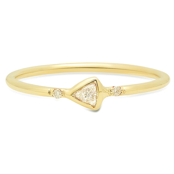 Petite Trillion Diamond Ring - rosedale-jewelry