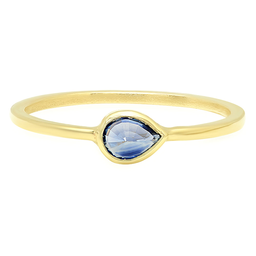Topsy Turvy Sapphire Ring - Rosedale Jewelry
