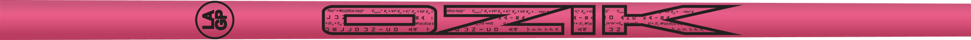 Ozik Red Tie: Neon Pink Black Satin - Wood 50 S