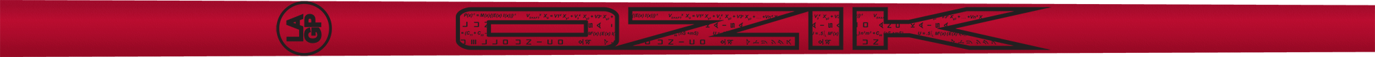 Ozik White Tie: Candy Apple Red Black Matte - Wood 50 A