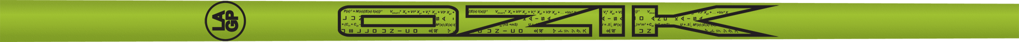 Ozik White Tie: Lime Green Black Matte - Wood 40 A