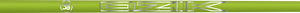 Ozik White Tie: Neon Yellow Silver Satin - Wood 50 A