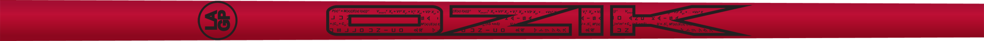 Ozik White Tie: Candy Apple Red Black Satin - Wood 50 R