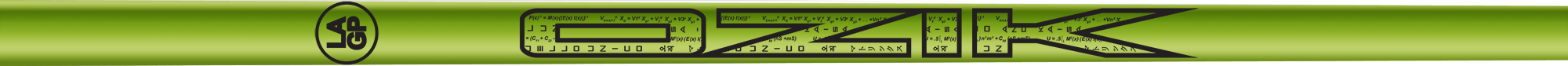 Ozik White Tie: Lime Green Black Gloss - Wood 40 R
