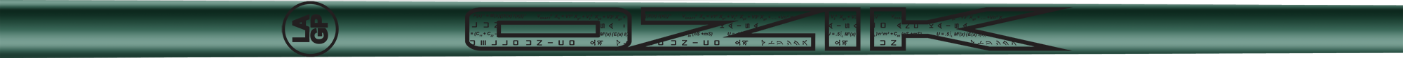 Ozik White Tie: Masters Green Black Gloss - Wood 50 R