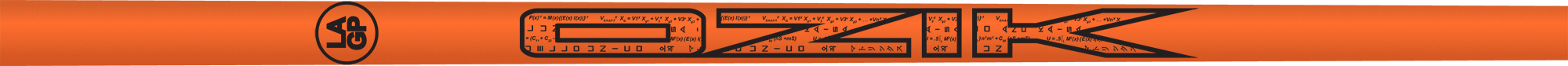 Ozik White Tie: Neon Orange Black Matte - Wood 50 R