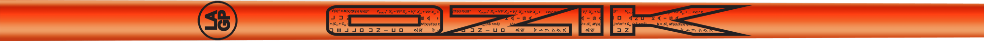 Ozik White Tie: Neon Orange Black Gloss - Wood 50 R