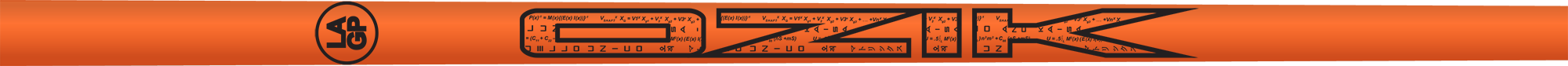 Ozik White Tie: Neon Orange Black Satin - Wood 40 R