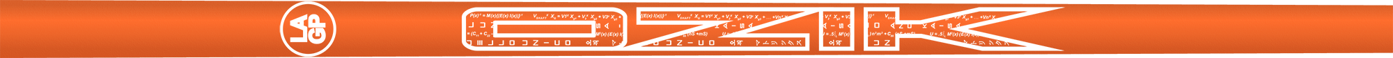Ozik White Tie: Neon Orange White Matte - Wood 40 R