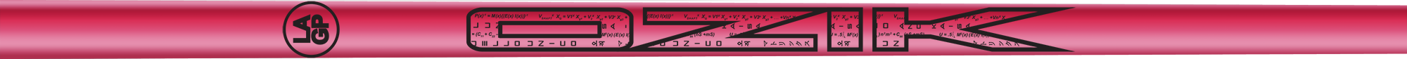 Ozik White Tie: Neon Pink Black Gloss - Wood 50 R