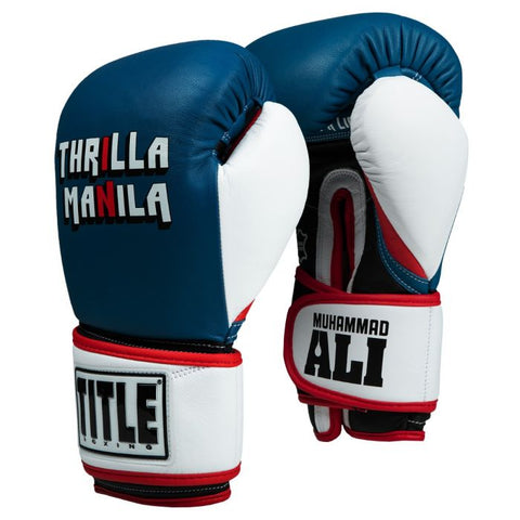Ali Thrilla In Manila Training Gloves