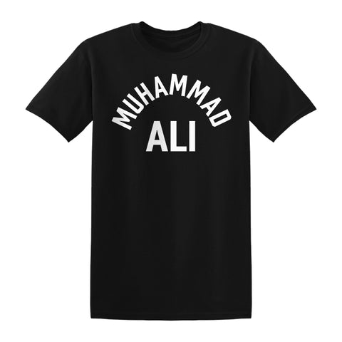 Muhammad Ali Sting Arc T-shirt Robe Black White