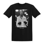 Muhammad Ali Step Into The Ring Shirt Photo Robe Black