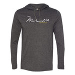 Muhammed Ali Signature Hooded Long Sleeve Tee