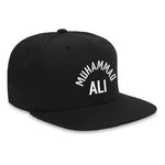 Arc Flat Brim Snapback Hat - Black White