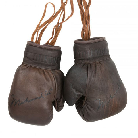 Muhammad Ali Collectible Vintage Boxing Gloves Brown