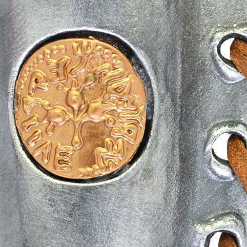Ancient Coin Pewter Mezuzah