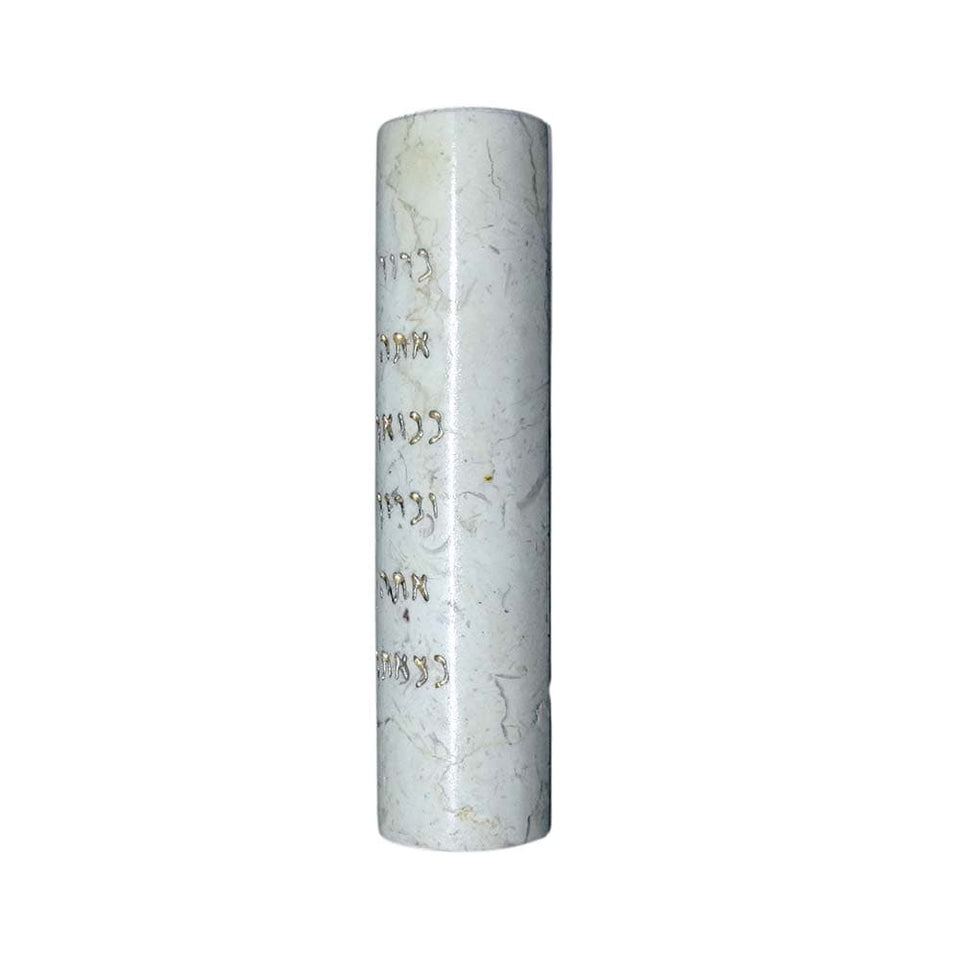 Golden Blessings Stone Mezuzah