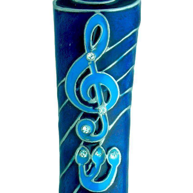 Music Lovers Mezuzah - Blue