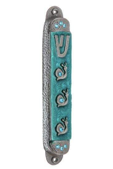 Summer Rain Pewter Mezuzah - Splash