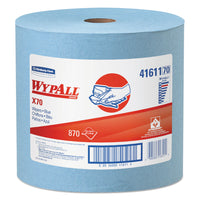 X70 Cloths, Jumbo Roll, 12 1/2 X 13 2/5, Blue, 870/roll