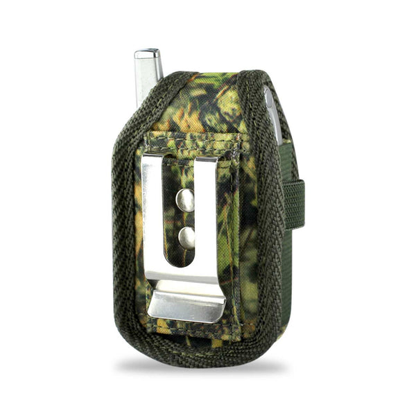 VERTICAL RUGGED POUCH PH01 S LEAF ARMY CAMOUFLAGE PATTERN 3.5X1.9X0.9 INCHES