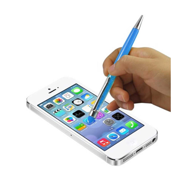 REIKO CRYSTAL STYLUS TOUCH SCREEN WITH INK PEN IN BLUE