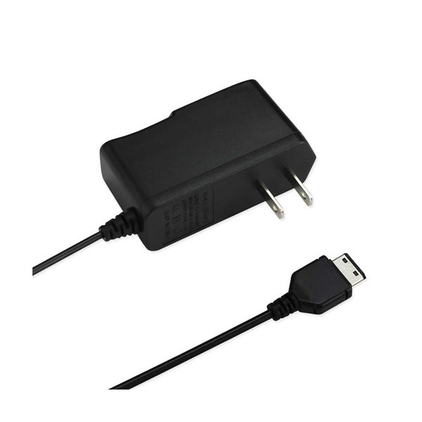 REIKO PORTABLE SAMSUNG 300/510 USB TRAVEL ADAPTER CHARGER WITH BUILT IN CABLE IN BLACK