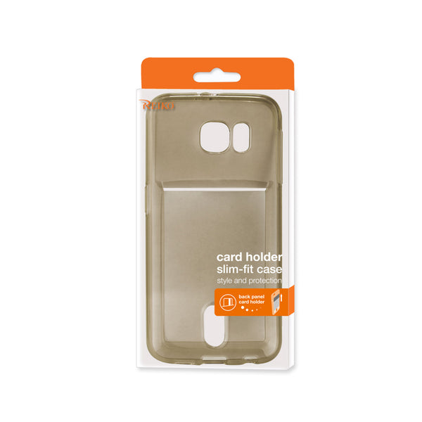 REIKO SAMSUNG GALAXY S6REIKO SEMI CLEAR CASE WITH CARD HOLDER IN CLEAR BLACK