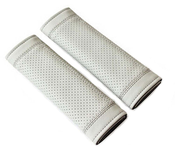 Gray Car Seat Belt Shoulder Pad Sets Lengthen Belt Sleeve Automotive Supplies
